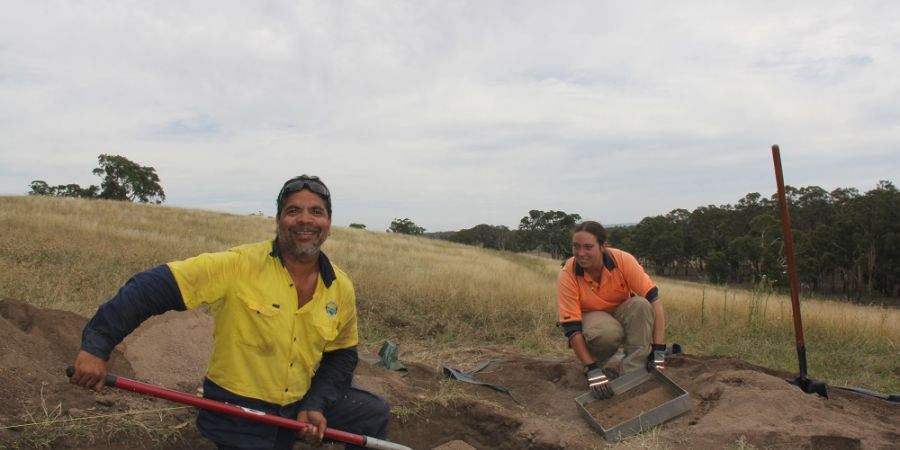 Cultural heritage site representative Steve Hood and archaeologist Jo Wilson.jpg