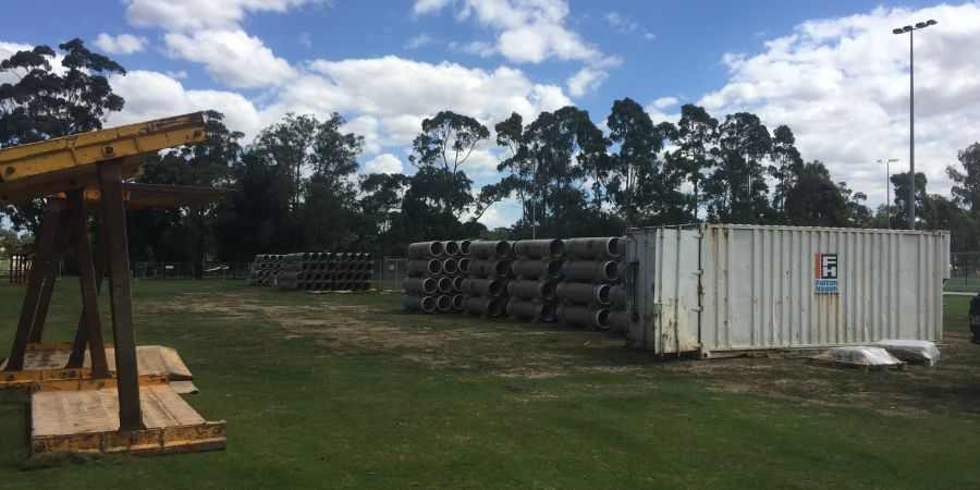 Water pipes ready to be installed at Drouin.jpg
